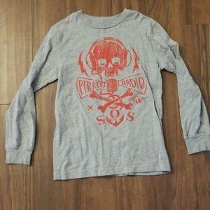 Boys Gap warm long sleeved skull shirt
